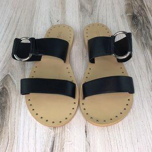 Topshop Black Ring Sandals